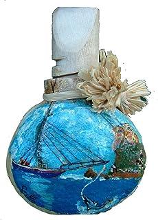 tabacchiera da fiuto o porta spezie in buccia di bergamotto con decoro personalizzabile