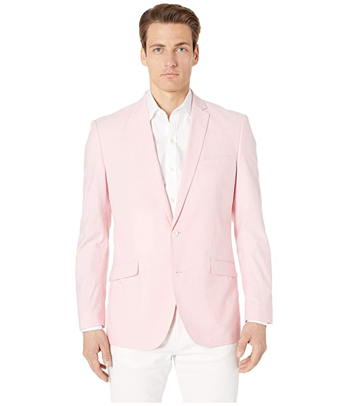 Kenneth Cole Reaction  Unlisted Chambray Sports Coat (Pink) Mens Jacket