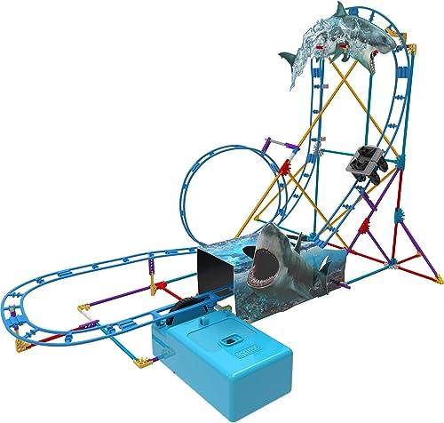 2021 K'NEX Thrill Rides - Tabletop Thrills Shark Attack Roller Coaster Building online sale Set high quality - Ages 7+ online