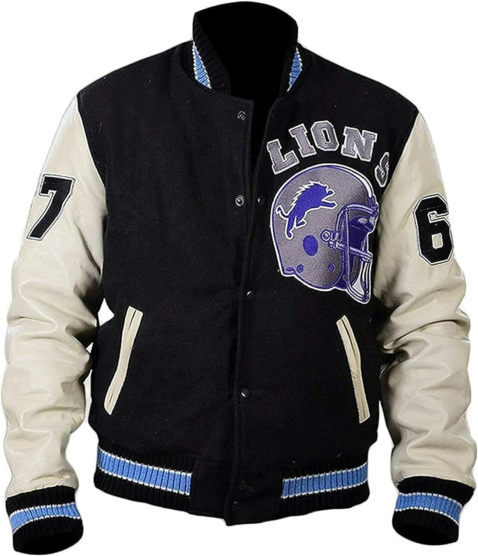 Men's Wool Black Bomber Vintage Sports Letterman Varsity wool Jacket XXS-4XL