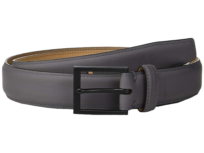 Cole Haan 32 mm Rubberized Leather Belt (Grey) Men