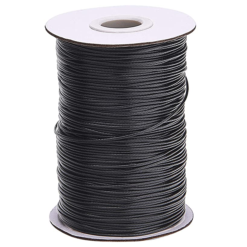 Livder 175 Yards 1 mm Waxed Polyester Cord Thread Bracelet Necklace String Wire for Jewelry Making Beading Crafting