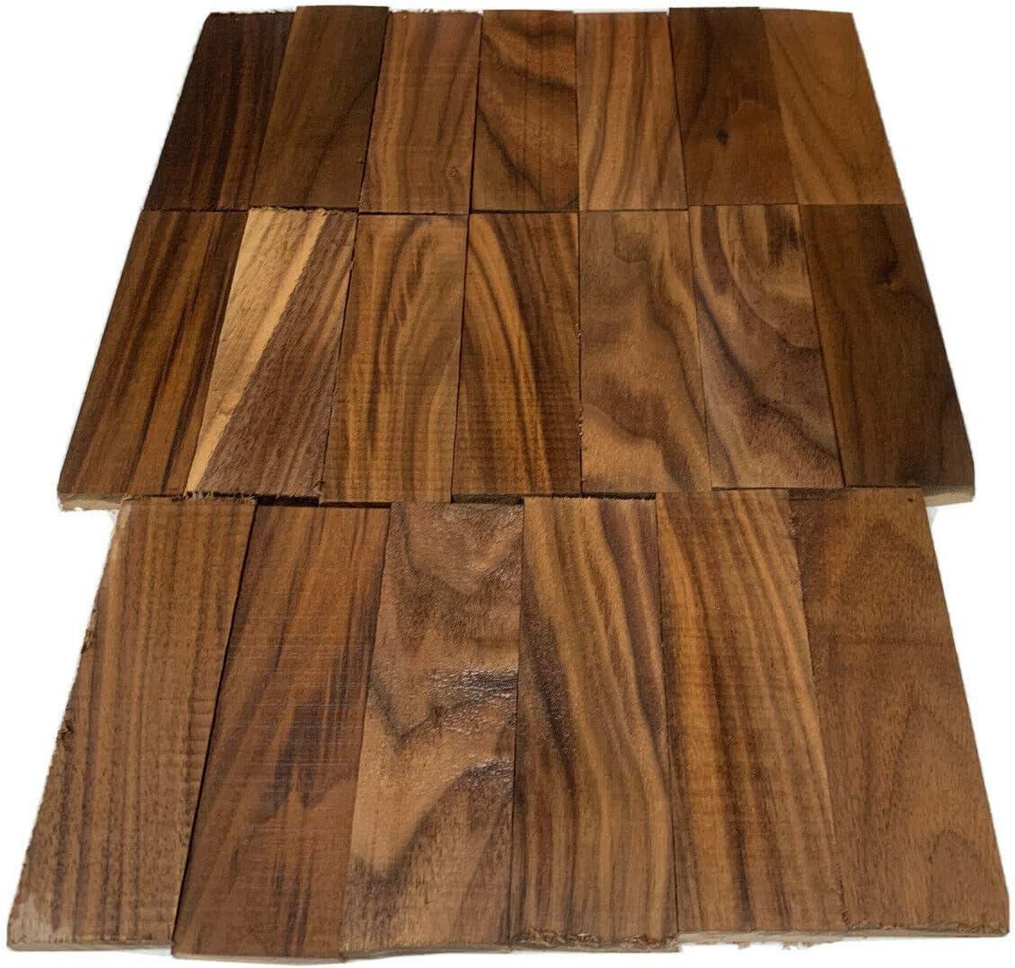 20 Pack, Black Walnut Wood Knife Scales