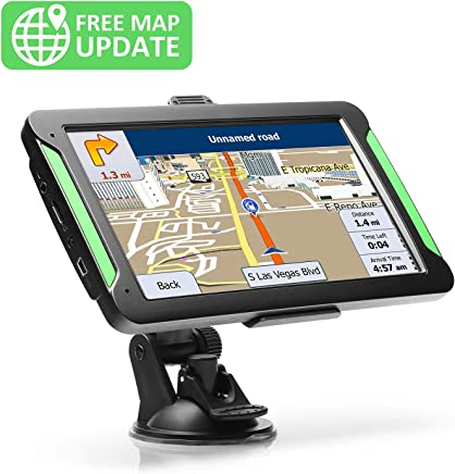 "GPS Navigation for Car, LTTRBX 7"" Touch Screen 8GB Real Voice Spoken Turn-by-Turn Direction Reminding Navigation System for Cars, Vehicle GPS Satellite Navigator with Free Lifetime Map Update"