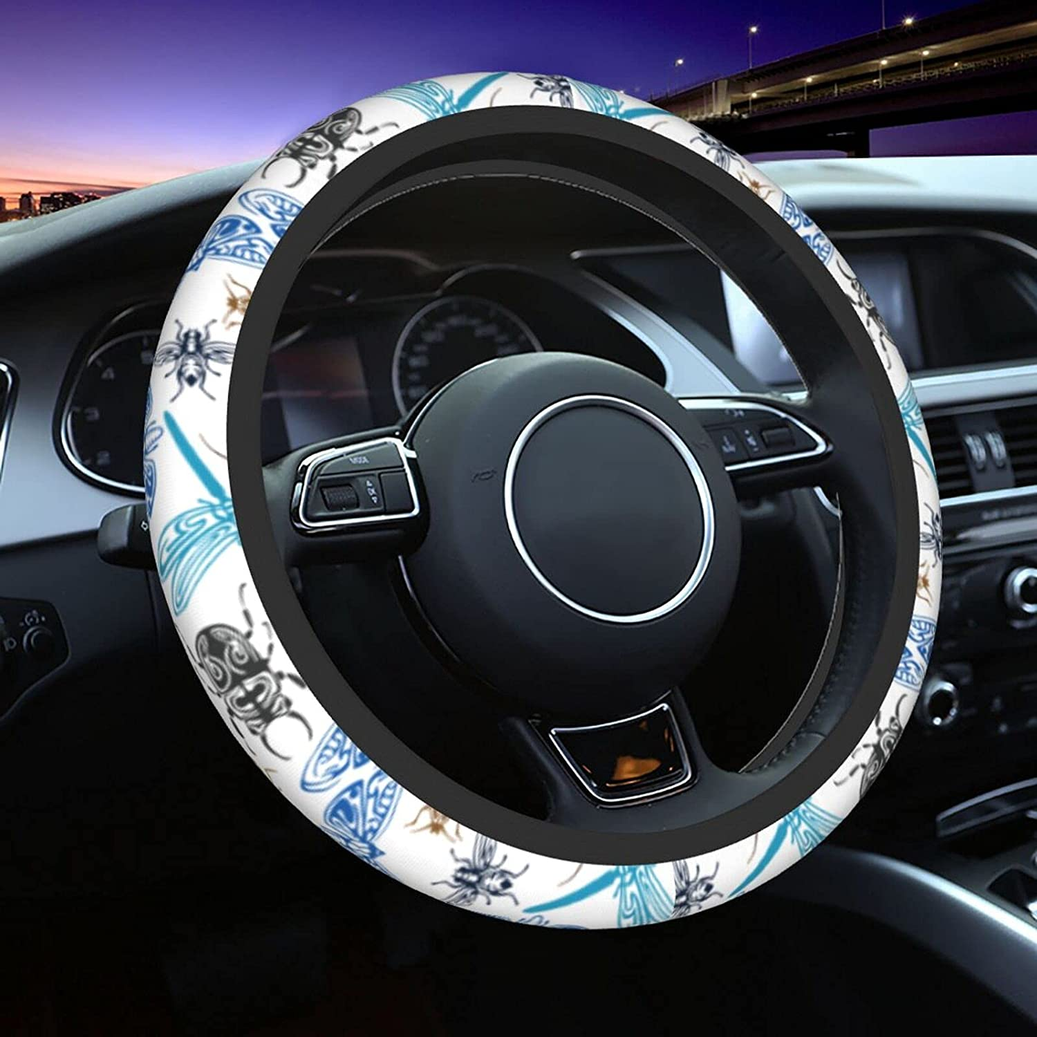 Bugs And Flying Super sale Insects Memphis Mall Car Steering Cover Fit Wheel Universal