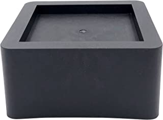 DuraCasa 3 Inch Bed Risers - Fits Huge 5.5 Inch Bed or Furniture Post, Creates an Additional 3 Inches of Height or Storage! Heavy-Duty Table, Chair, Desk or Sofa Riser (6, 3 Inch Black)