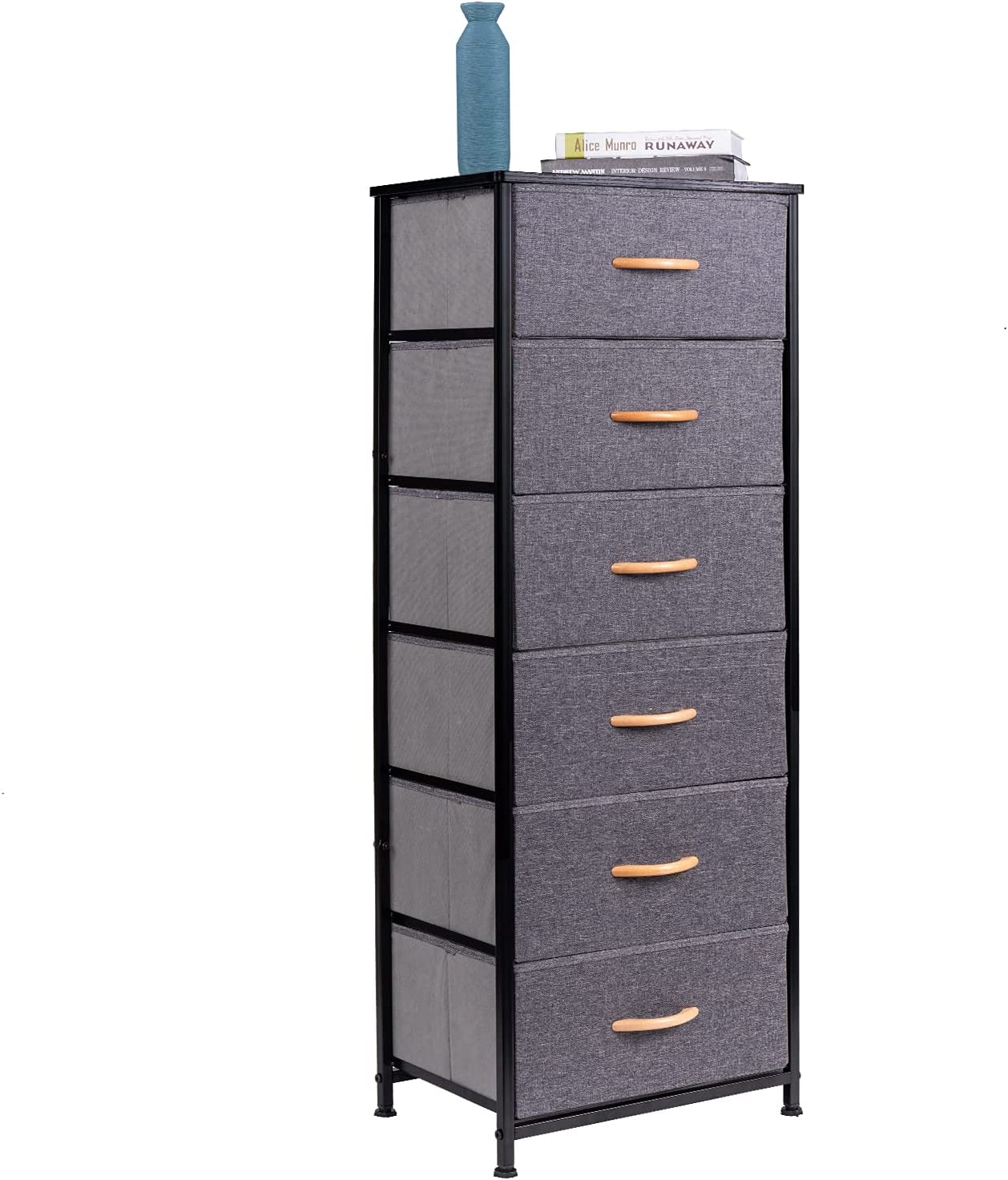 WAYTRIM Vertical Dresser A surprise Our shop OFFers the best service price is realized Storage Tower 6 Fabric Or with Drawers