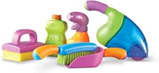 Learning Resources New Sprouts Clean It! Toddler Playset, Pretend and Learn, 6 Pieces, Ages 2 +,Multi-color
