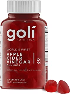 World's First Apple Cider Vinegar Gummy Vitamins by Goli Nutrition - Immunity, Detox & Weight - (1 Pack, 60 Count, with Th...