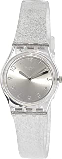 Swatch Originals Glistar Silver Dial Silicone Strap Ladies Watch LK343E