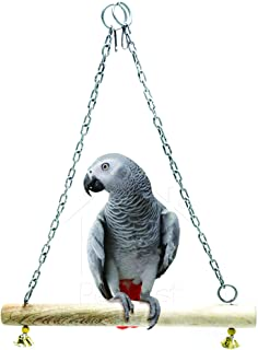 PetNest Bird Wooden Jumbo Swing Bird Toys for Large Parrots - Bird Toys for African Grey - Bird Toys for Macaw Parrot - Bi...