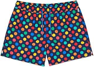 Shorts De Baño para Hombre Sandía, Negro/Rosa