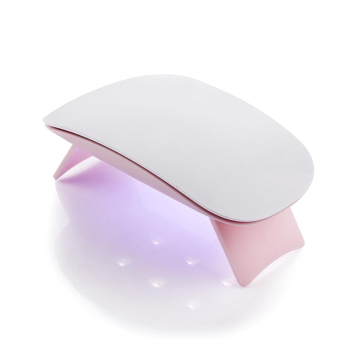紳士シェフ秀でるMakartt 6W UV ジェルネイルLEDライト? 超ミニ USB式ネイルドライヤー ネイル硬化用ライト 赤外線検知