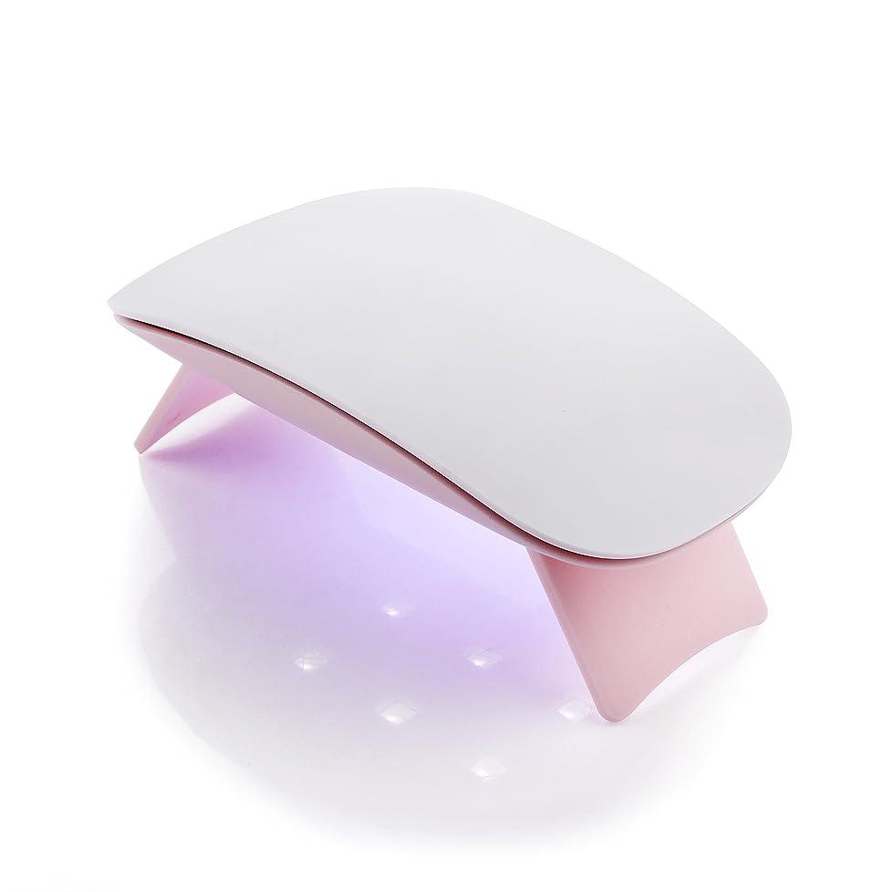 ガラガラ偶然届けるMakartt 6W UV ジェルネイルLEDライト? 超ミニ USB式ネイルドライヤー ネイル硬化用ライト 赤外線検知