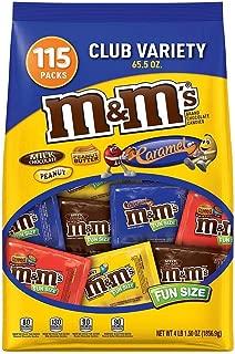M&M's Chocolate Candy Fun Size Club Variety Mix (65.5 Oz., 115 ct.)