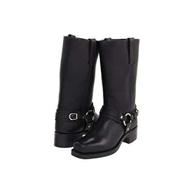Frye Belted Harness 12R (Black Leather) Cowboy Boots