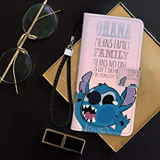 DISNEY COLLECTION Wallet Case Fit for iPhone 7 8 Stitch Disney Ohana Family Forgotten Sad Depressed Love Alone Happy Team