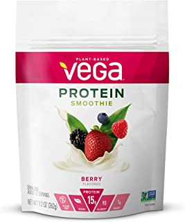 Vega Protein Smoothie, Berry, Plant Based Protein Powder - Vegan Protein Powder, Keto-Friendly, Vegetarian, Gluten Free, S...