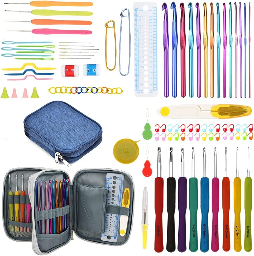 Max 72% OFF Katech 99-Piece Crochet outlet Hooks Set with Hook Kit Storage