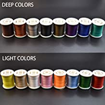 Phecda Sport 16 Colors 150 Deniers Fly Tying Thread Lightly Waxed Multi Filament Yarn Fly Tying Materials