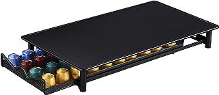 Exzact EXNP076-40 Cajón de Almacenamiento Compatible para cápsulas Nespresso/Cajón para Almacenamiento de cápsulas de café y Soporte de máquina 2 en 1 para máquina Nespresso, Capacidad 40 cápsulas