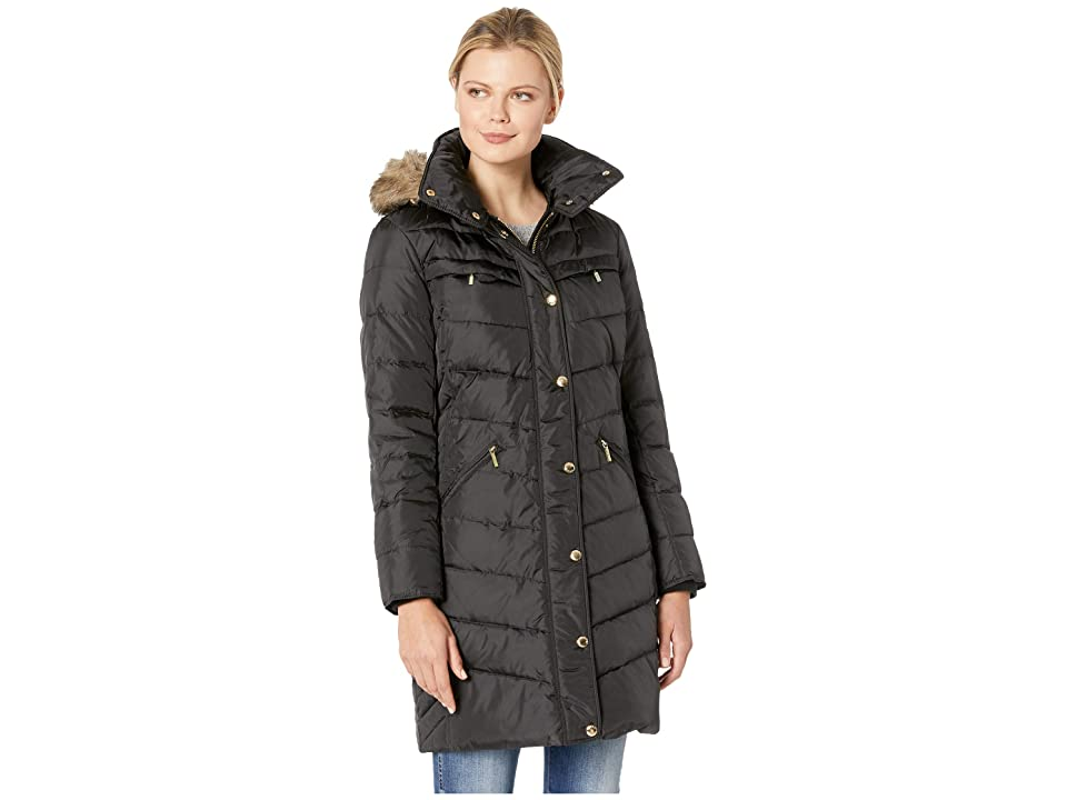 MICHAEL Michael Kors Snap Front Hooded Down M823172GZ (Black) Women