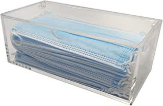 Face Mask Storage Box, Hygienic Styish Transparent Acrylic Container. Organize and Protect Your Masks (Face Mask not inclu...