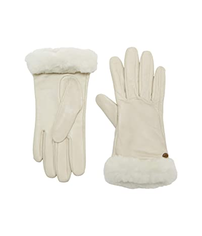 UGG Classic Leather Shorty Tech Gloves (Sand) Extreme Cold Weather Gloves