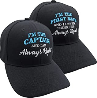 I'm The Captain and I'm The First Mate Always Right Matching Baseball Caps