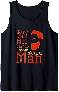 Ginger beard man funny Christmas Hipster bearded men slogan Tank Top