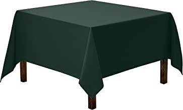 Gee Di Moda Square Tablecloth - 70 x 70 Inch - Hunter Green Square Table Cloth for Square or Round Tables in Washable Polyester - Great for Buffet Table, Parties, Holiday Dinner, Wedding & More
