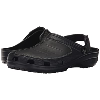 Crocs Yukon Mesa Clog (Black/Black) Men
