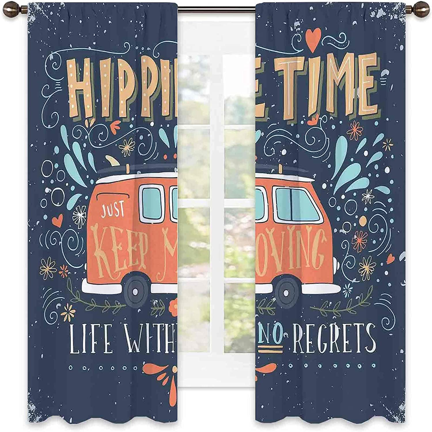 Hippie Ranking TOP4 Blackout 2021 autumn and winter new Curtain Motivational Inspiring wit Quote