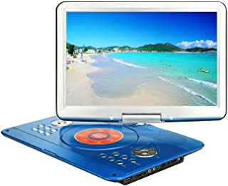 YOOHOO Portable DVD Player with 6 Hours Rechargeable Battery,Swivel Screen,Remote Controller,Supports SD Card, USB Port an...