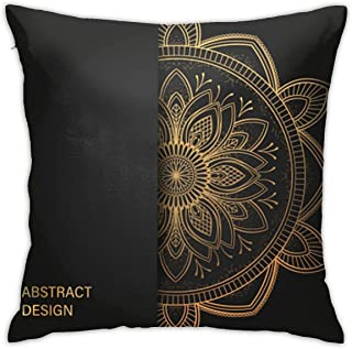 Perfect Decorative Pillow Case, Winter Home Decor Cushion Cover, Ramadan Kareem Luxury Style Arabic Calligraphy Throw Pillow Cover Stain Resistant for Farmhouse Car 18x18 Inch