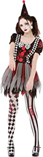 crazy clown halloween costume