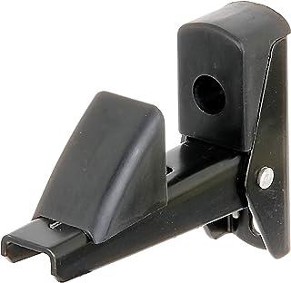 GAH-Alberts 307752 luik en deurvastzetter, zelfsluitend, aluminium, zwart gelakt, afstand vastzetter - plaat 15 - 50 mm