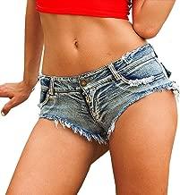 Yollmart Women's Low Waist Sexy Denim Short Hot Pants Sexy Mini Jeans Shorts