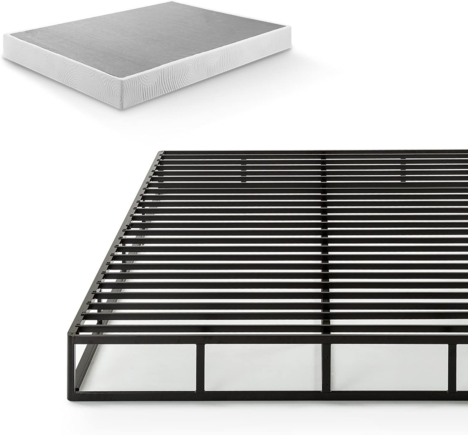 Zinus 7.5 Inch Quick Lock Smart Box Spring   Mattress Foundation   Strong Steel Structure   Easy Assembly, Twin