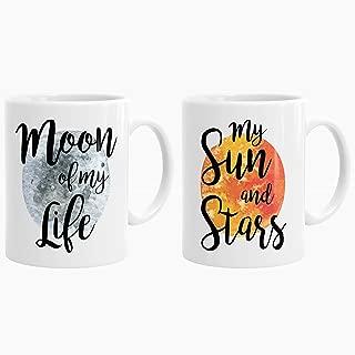 Game Of Thrones Mug Set, Khaleesi and Drogo Mugs, Moon of my Life, My Sun and Stars, GOT Gifts, Game of Thrones Gift P43