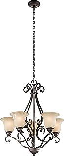 """Kichler 43224OZ Camerena Chandeliers Lighting, Olde Bronze 5-Light (27"""" W x 31"""" H) 500 Watts"""
