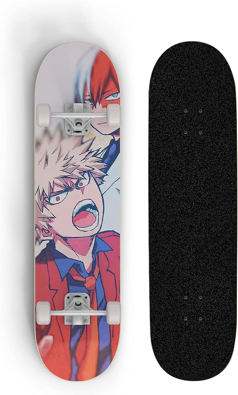 ZQHUAA My Regular discount Hero Academia Animation Deck Skateboard Beginne Recommendation Maple