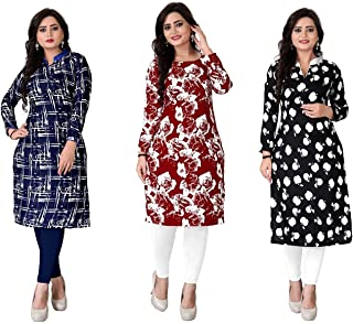 Kesari King Women's Cotton Semi-stitched Salwar Suit (Pack of 3) (1024Ambe1056_Multicolor_Free Size)