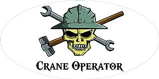 "3 – Crane Operator Skull Hard Hat/Helmet Stickers 1 1/2"" x 3"" H293"