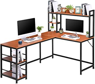 Bureau d'angle en Forme de L Bureau d'ordinateur en L,avec Structure et Table-Table Bureau Informatique Gaming Poste de Tr...