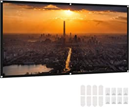 Projector Screen 100 Inch, Deesoo 16:9 HD Protable Projection Screen Indoor Outdoor Foldable Projector Movies Screen Support Double Sided Projection for Travel Office Home Theater