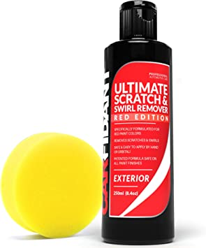 Carfidant Red Car Scratch Remover - Ultimate Scratch and Swirl Remover for Red Color Paints - Polish & Paint Restorer - Easily Repair Paint Scratches, Scratches, Water Spots! Car Buffer Kit: image