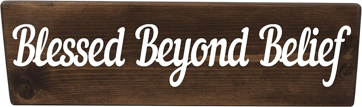 Chicago Mall Blessed Beyond Belief Christian half Biblical Wall Wood Sign Gift Dec