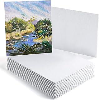 GC Panneaux de toile - 8 x 10 '' (20 x 25 cm) Panneaux en toile de coton apprêté - lot de 14 - pour acrylique, peinture à ...