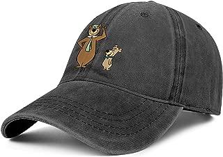 Classic Jeans Dad Hats Yogi-Bear-and-Boo-Boo-Bear- Mens Baseball Caps Womens Golf Cap